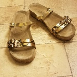 Mephisto Gold Ines Fiesta Cobra Sandals Shoes 38 8